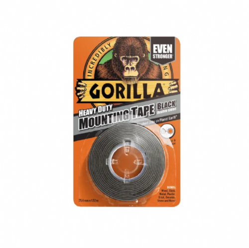 Gorilla 3044200 Heavy Duty Double Sided Mounting Tape Black 25.4mm x 1.52m